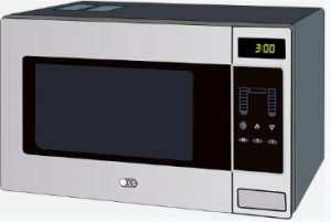 image of microwave warming fake urine