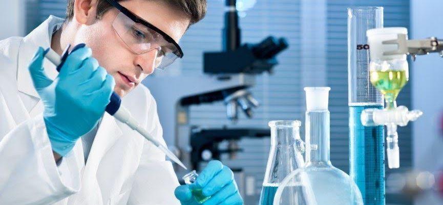 technician testing fake urine