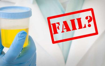 failed urine test sample